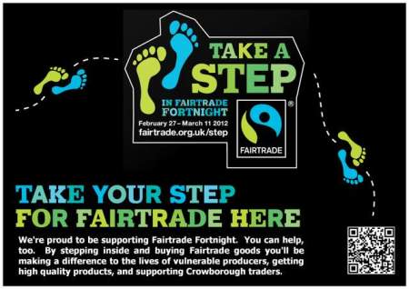 Take a Step for Fairtrade in Crowborough Poster